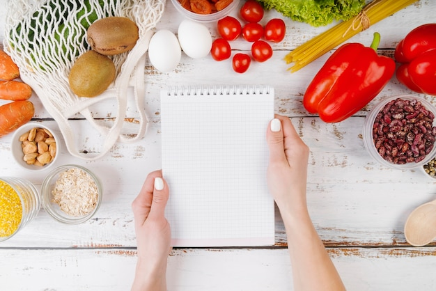 Vue De Dessus Du Concept Alimentaire Avec Espace Copie Photo gratuit