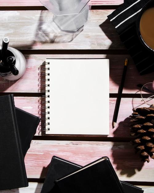 Vue De Dessus Du Concept De Bureau Avec Espace Copie Photo gratuit