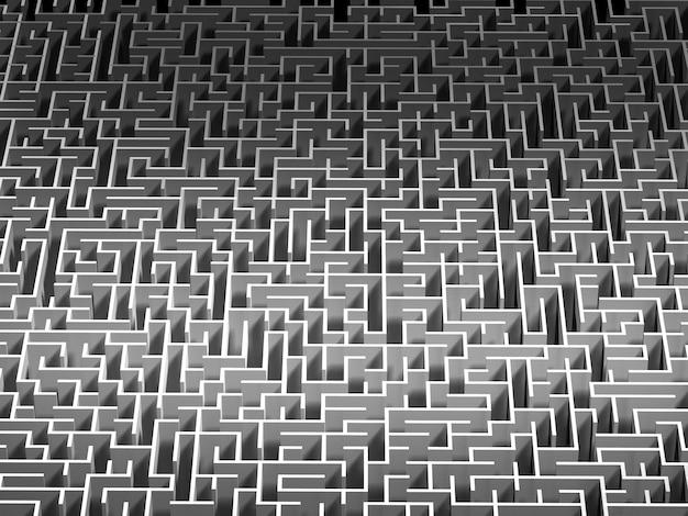 Vue De Dessus Du Labyrinthe. Rendu 3d. Photo Premium