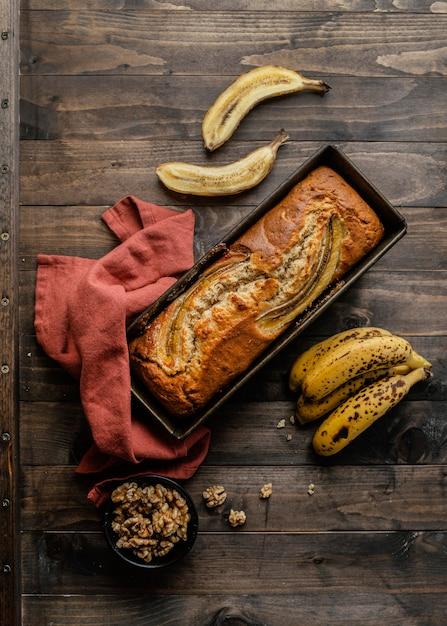 Vue De Dessus Du Pain à La Banane Photo gratuit