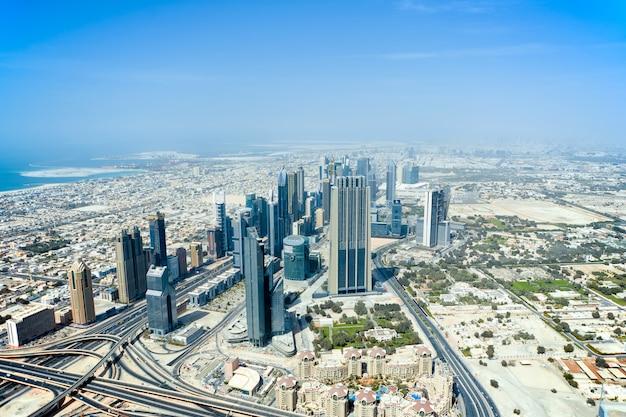 La Vue De Dessus Sur Dubaï Photo gratuit