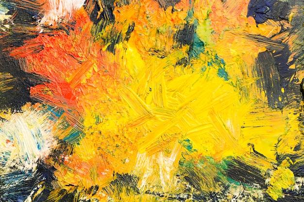 Vue De Dessus Espace Copie Artistique Peinture Abstraite Photo gratuit