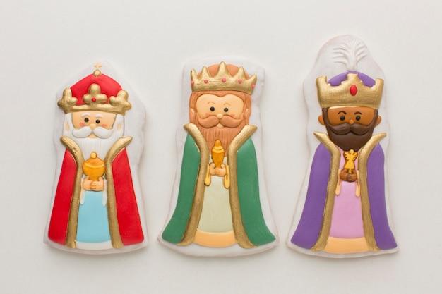 Vue De Dessus De Figurines Comestibles Biscuit Royalty Photo gratuit
