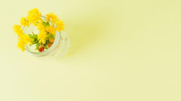 Vue de dessus des fleurs avec espace de copie Photo gratuit