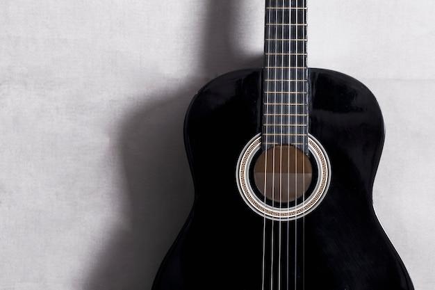 Vue de dessus d'une guitare Photo gratuit