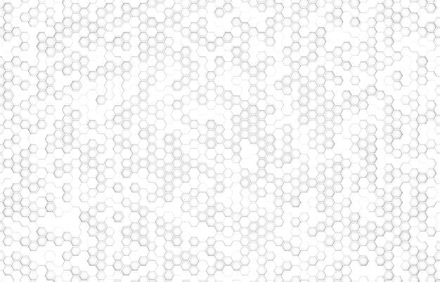 Vue de dessus hexagone de couleur blanche Photo Premium