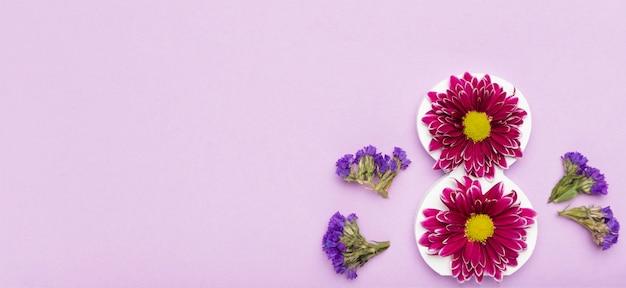 Vue De Dessus De Jolies Fleurs Avec Espace Copie Photo gratuit