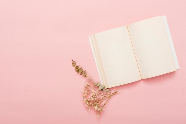 Vue de dessus d'un livre ouvert Photo gratuit