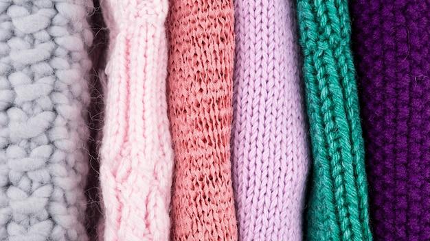 Vue de dessus des vêtements colorés Photo gratuit