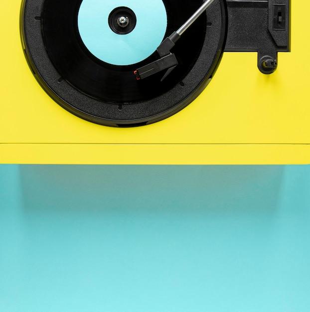 Vue De Dessus Vieux Disque Vinyle Photo gratuit