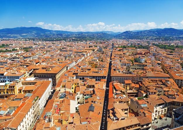 Vue de dessus de la ville de florence. Photo Premium