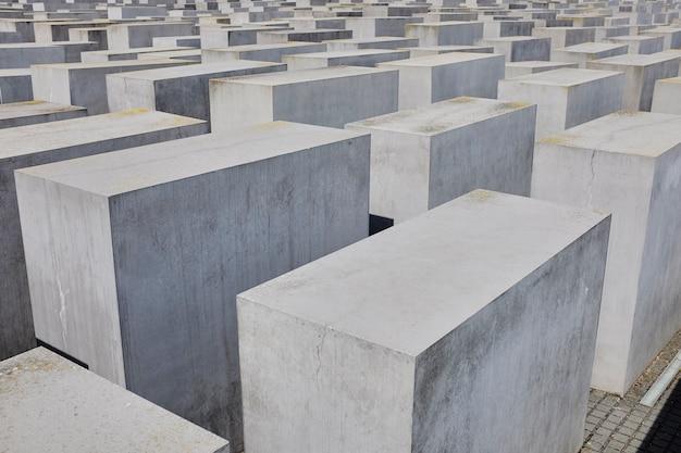 Vue du mémorial juif de l'holocauste, berlin Photo Premium