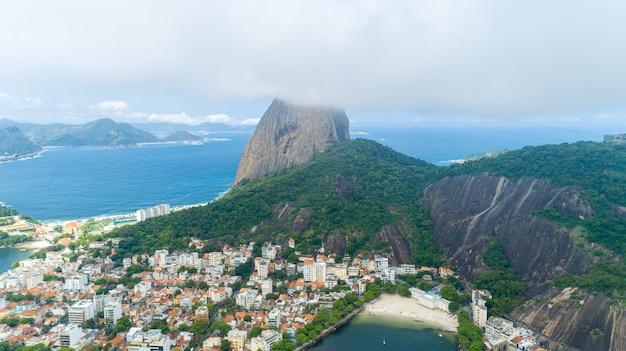 Vue Du Pain De Sucre, Corcovado Et La Baie De Guanabara, Rio De Janeiro, Brésil Photo Premium