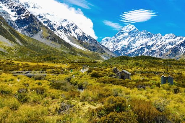 Vue du parc national aoraki mount cook en nouvelle-zélande Photo Premium