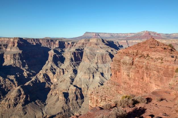 Vue du paysage dans le parc national du grand canyon aux états-unis Photo Premium