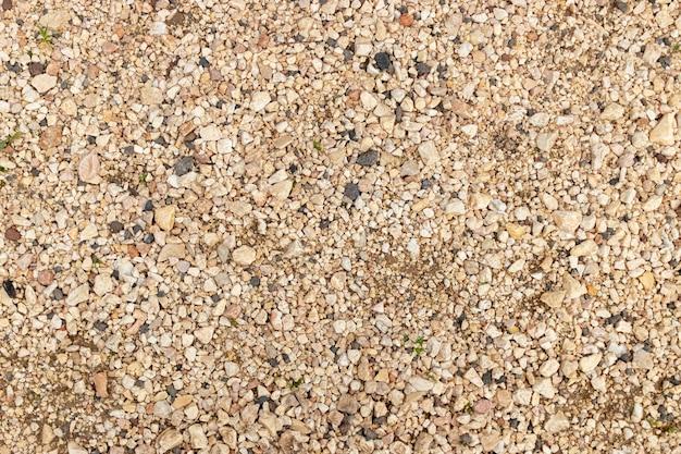 Vue du sol avec plusieurs types de pierres Photo Premium