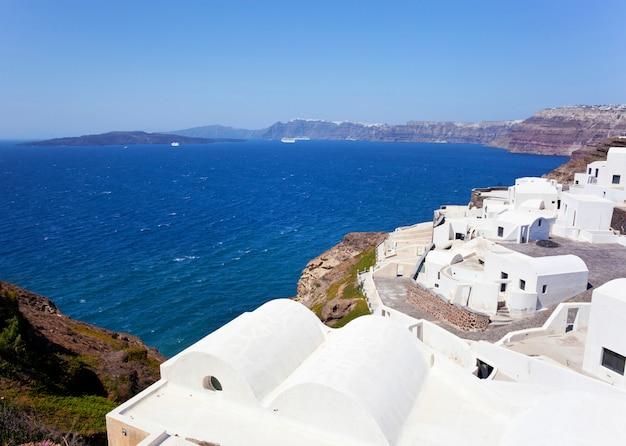 Vue du village générique de l'île de santorin Photo Premium
