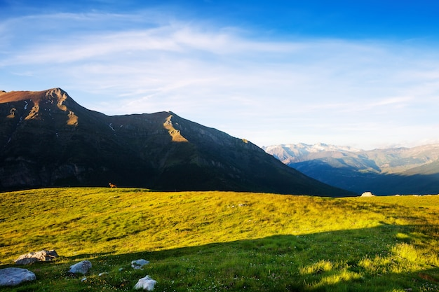 Vue D'été Des Montagnes Dans Les Pyrénées Photo gratuit