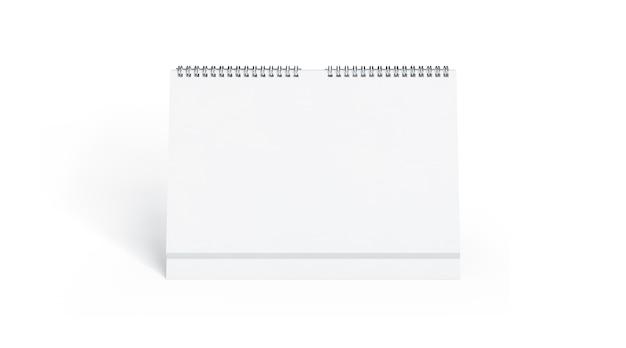 Vue De Face De Calendrier Blanc Blanc, Isolé Photo Premium