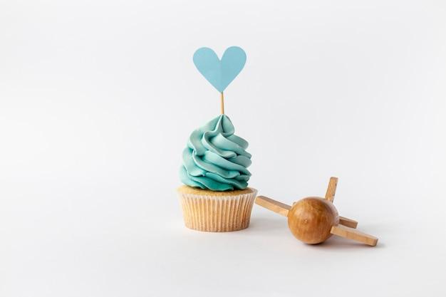 Vue De Face De Cupcake Mignon Petit Bébé Garçon Photo gratuit