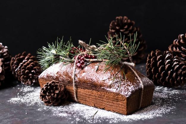 Vue De Face Délicieux Gâteau Fait Spécial Pour Noël Photo gratuit