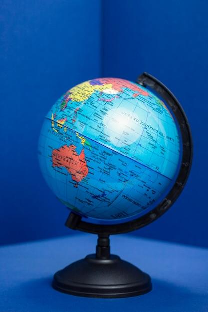 Vue De Face Du Globe Terrestre Photo gratuit