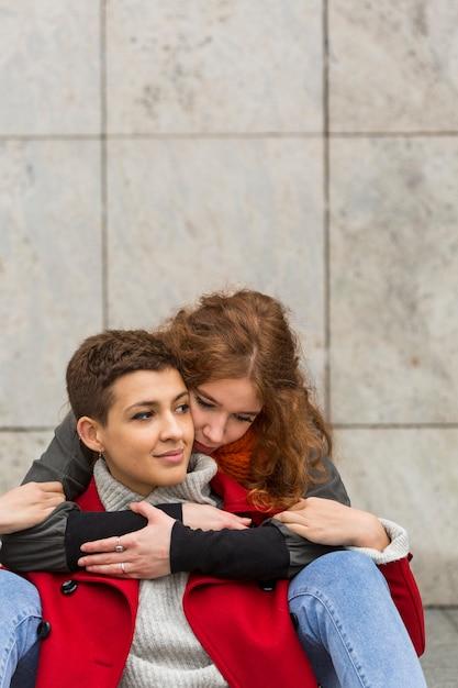 Vue De Face, Jeunes Femmes, Ensemble Photo gratuit