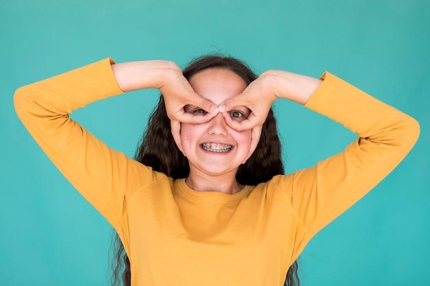 Vue De Face, Petite Fille, Idiot Photo gratuit