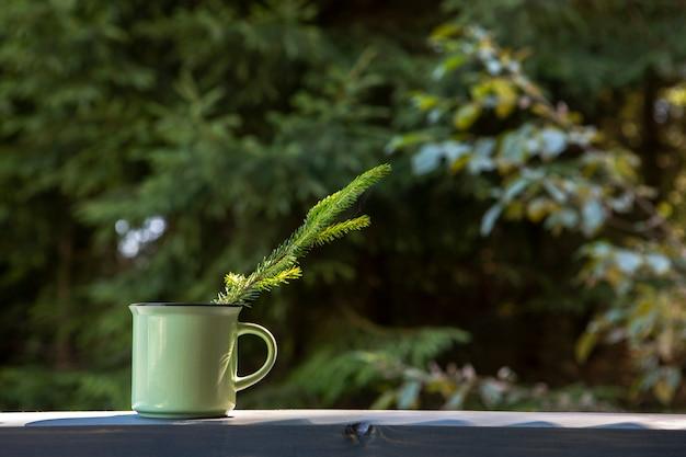 Vue de face, tasse, café, espace copie Photo gratuit