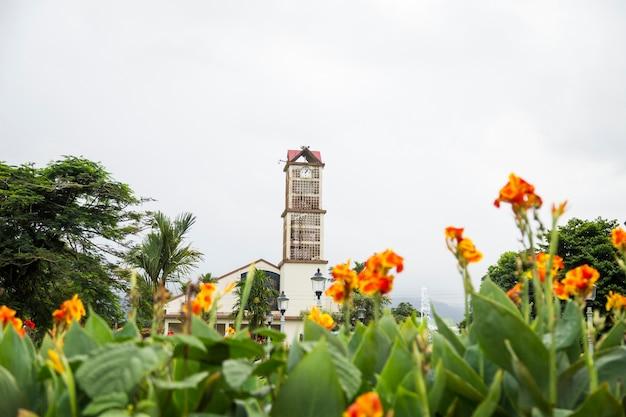 Vue, de, a, fortuna, ville, église, depuis, parc, à, costa rica Photo gratuit