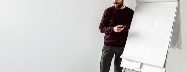 Vue Frontale, De, Homme, Conversation Téléphone Photo gratuit