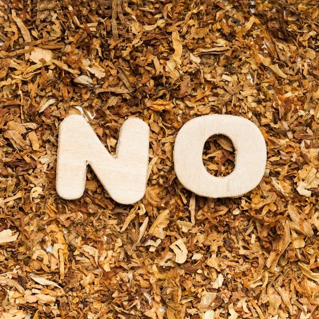 Vue grand angle sans mot contre le tabac Photo gratuit