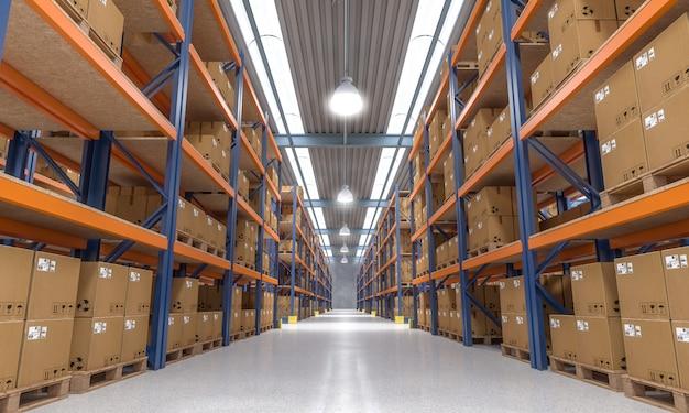 Vue intérieure de l'entrepôt Photo Premium
