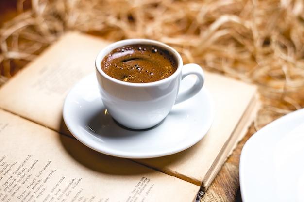 Vue Latérale Double Espresso Photo gratuit