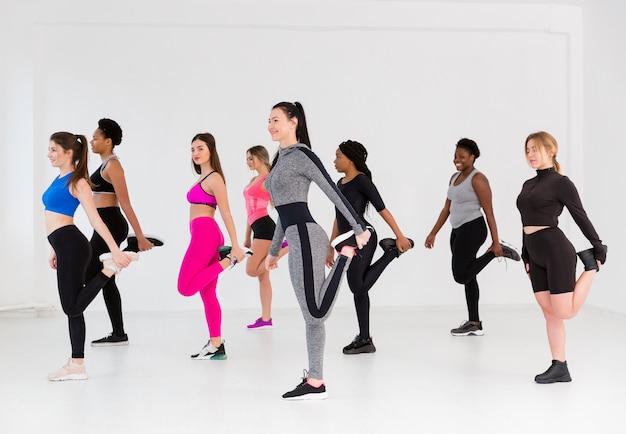 Vue Latérale Des Femmes Travaillant Ensemble Photo gratuit