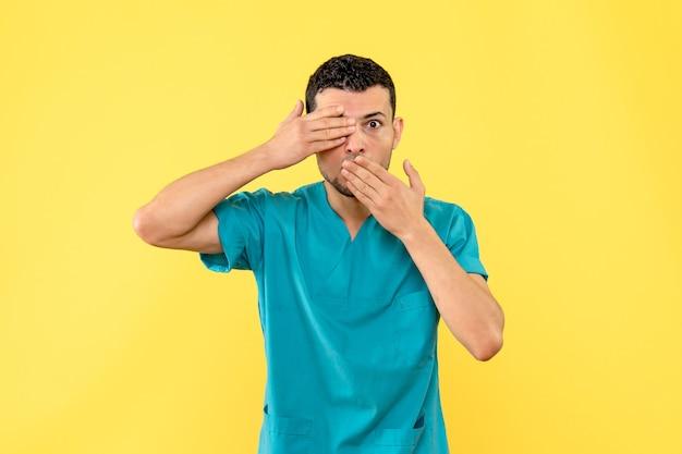Vue Latérale D'un Spécialiste, Le Médecin Raconte à Quel Point Il Est Difficile Pour Les Personnes Atteintes D'une Maladie Grave De Vivre Photo gratuit