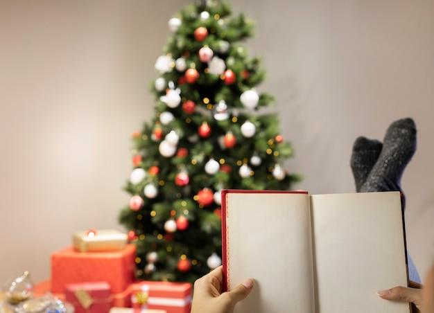 Vue De La Maison Décorée Pour Noël Photo gratuit