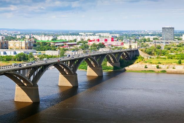 Vue De Nijni Novgorod Avec Le Pont Molitovsky Photo gratuit