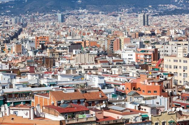 Vue panoramique de barcelone Photo Premium