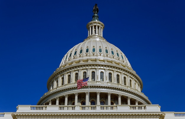 Vue panoramique, bâtiment capitole, washington dc, usa Photo Premium