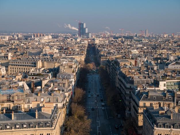 Vue Panoramique Grand Angle De La Ville De Paris. Photo Premium