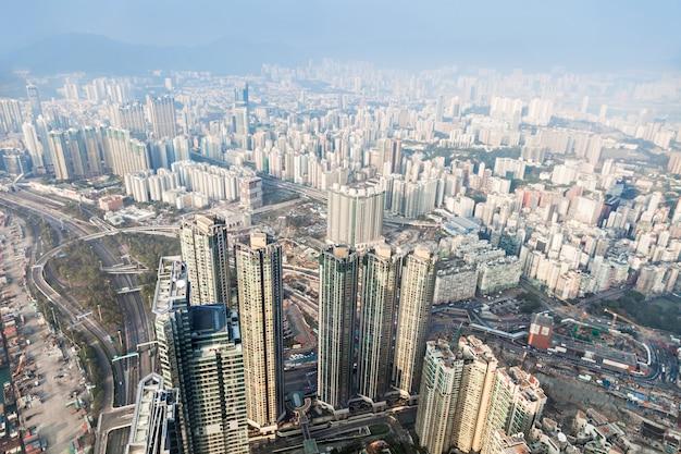 Vue panoramique sur hong kong Photo Premium