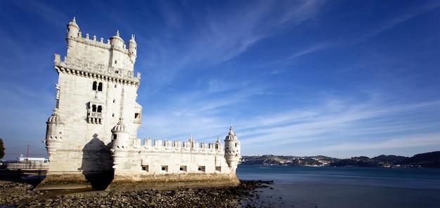 Vue Panoramique Tour De Belém, Lisbonne, Portugal. Photo gratuit