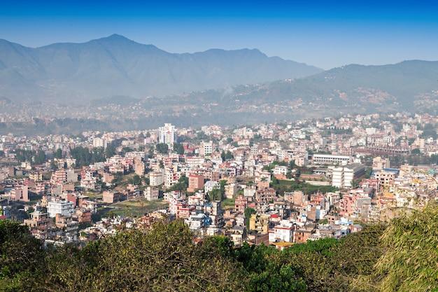 Vue Panoramique Sur La Ville De Katmandou Photo Premium