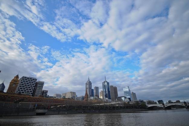 Vue panoramique de la ville de melbourne en australie Photo Premium
