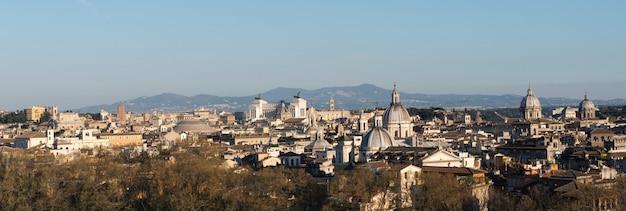 Vue panoramique de la ville de rome Photo Premium