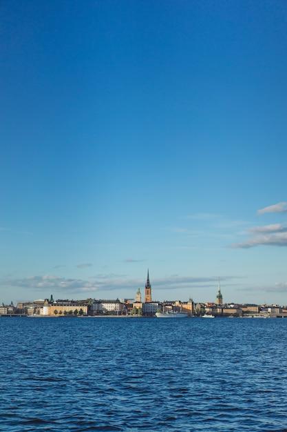 Vue sur le paysage urbain. paysages de stockholm, suède. Photo gratuit