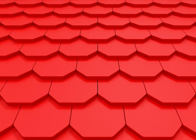 Vue En Perspective Du Fond De Mur Motif Rouge Toit Photo Premium