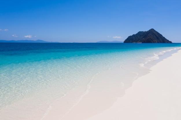 Vue, plage, nyaungo, phoe, île, myanmar Photo Premium