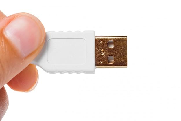 Vue rapprochée d'un câble usb Photo Premium